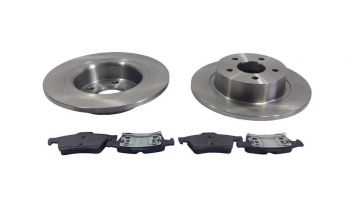 BRAND NEW FORD TRANSIT CONNECT REAR BRAKE DISCS & PADS SET PAD DISC 2002 ON