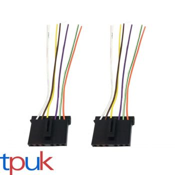 2 X FORD TRANSIT MK6 MK7 REAR LIGHT BULB HOLDER WIRE LOOM CABLE CONNECTOR PLUG