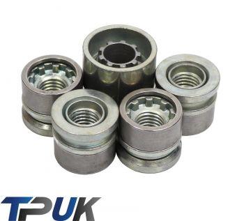 FORD TRANSIT MK6 MK7 LOCKING WHEEL NUTS 4 + KEY M14 x 2 2000 - 2014 LOCKERS SET