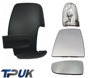 FORD TRANSIT MK8 FRONT LEFT SIDE MIRROR GLASS UPPER & LOWER CLEAR INDICATOR LENS