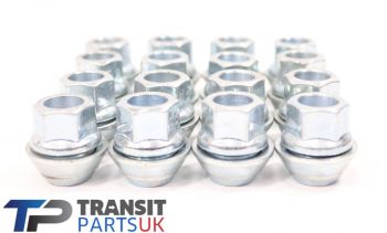 FIESTA ALLOY WHEEL NUTS PER SET OF 16 WITH FLOATING WASHER