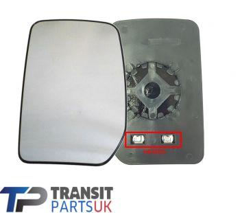 FORD TRANSIT MK6 MK7 HEATED ELECTRIC LEFT MIRROR GLASS 2000-2014 PASSENGER SIDE