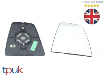 FORD TRANSIT MK8 2014 ON LEFT PASSENGER N/S HEATED UPPER WING MIRROR GLASS