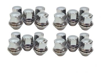 BRAND NEW FORD PUMA WHEEL NUT NUTS SET OF 20 SOLID CHROME TOP QUALITY ALLOY