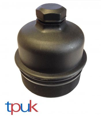 NEW OIL FILTER COOLER BOTTOM SCREW CAP BOWL FORD FIESTA FUSION 1.4 1.6 2001 ON