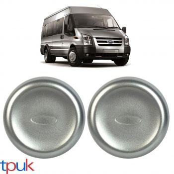 A PAIR OF FRONT WHEEL CENTRE CAP TRIMS FITS FORD TRANSIT MK6 MK7 MK8 REAR TWIN WHEEL