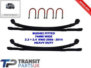 2 HEAVY DUTY 2+1 3 LEAF SPRINGS + UBOLTS FORD TRANSIT MK7 2.2 2.4 RWD 2006-2014